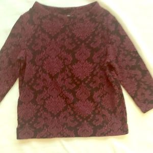 L Gorgeous Textured Sweatshirt Halogen euc